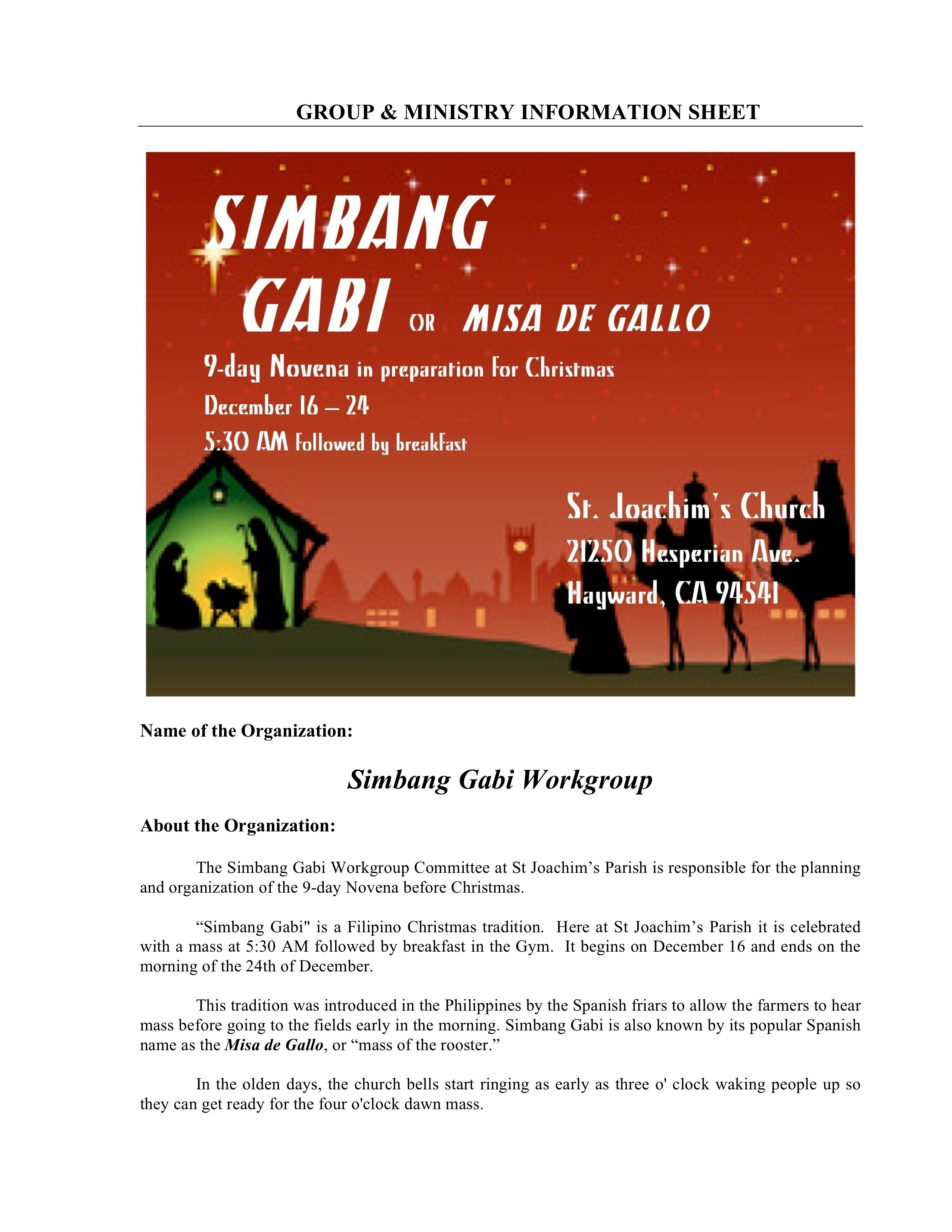 Simbang Gabi Ministry
